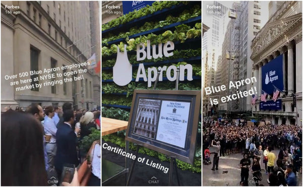 Blue Apron crew is waiting for IPO on NYSE