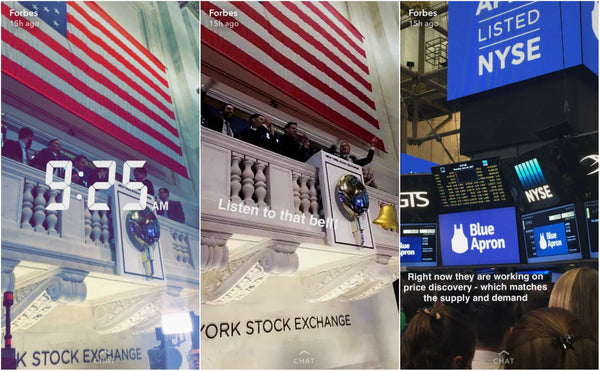 Blue Apron appears on NYSE