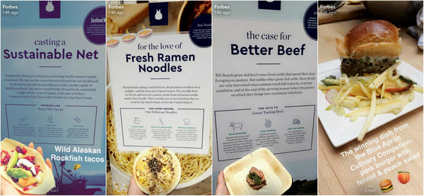 Product showcase by Blue Apron on Snapchat