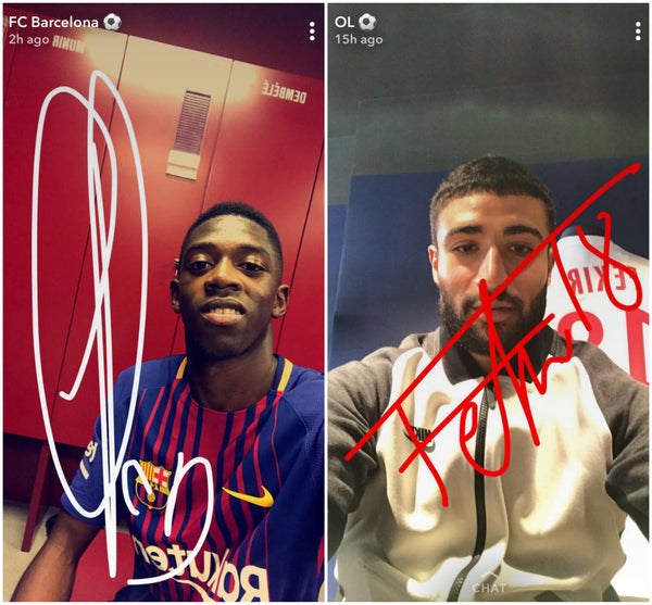 Autographs on Snapchat