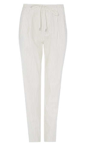 Track pant pinstripe wool trouser