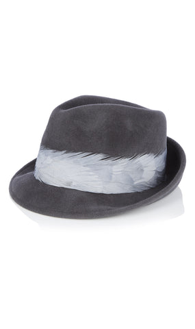Max wool and feather hat