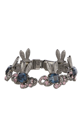 Crystal encrusted bunny love bracelet