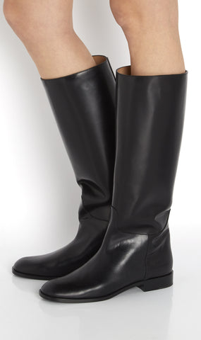 Tall leather riding boot