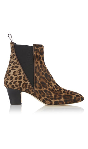Oscar leopard ankle boots