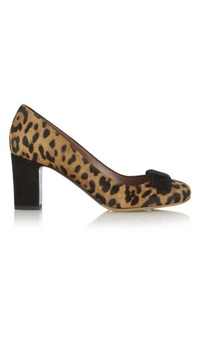 Flora leopard pumps