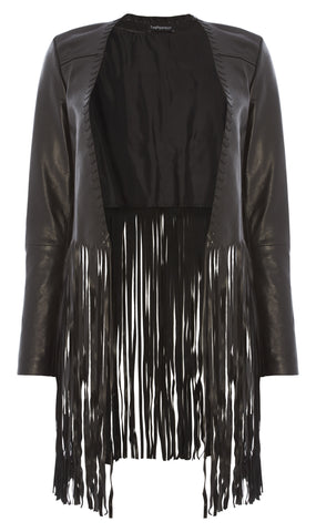 Christy leather fringe jacket