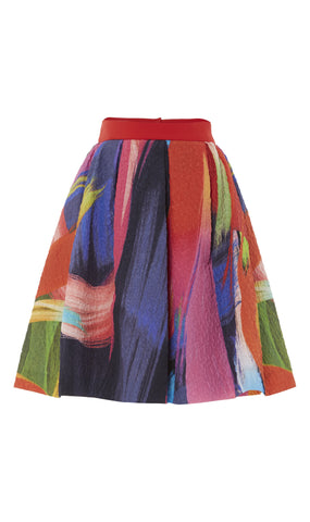 Jacquard splash print skirt