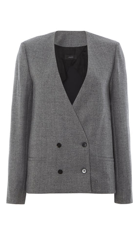Amber wool double-breasted jacket