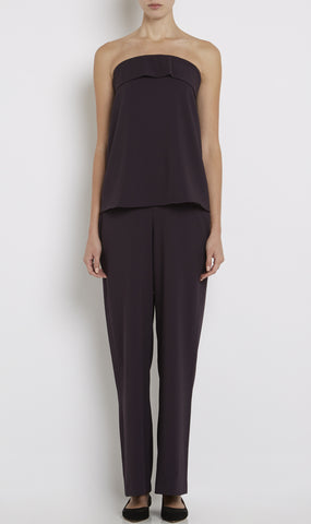 Jake strapless fluid crepe jumpsuit