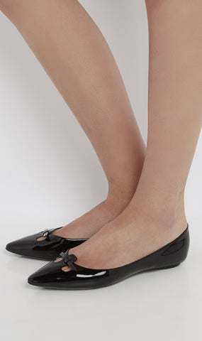 Patent leather cut out flat