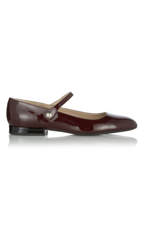 Patent leather mary jane flat