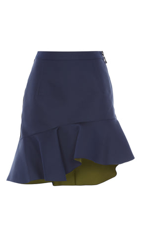 Curzon double-faced satin skirt