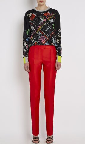 Piccadilly double-faced satin trousers