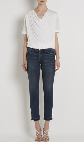 The cropped straight jean in loved