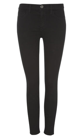 The high waist stiletto jean in jet black