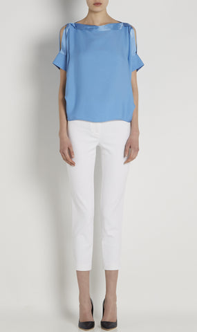 Eleanor silk-crepe top