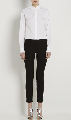 Black New Eliston stretch jacquard trousers
