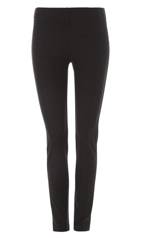 Grey Stretch jacquard leggings