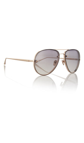 Aviator Rose-Gold Plated And Acetate Sunglasses