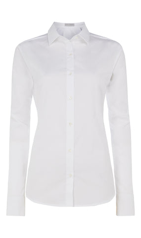 Spiral-pleat cotton shirt