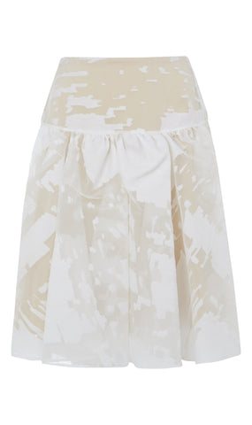 Gathered silk-gazaar skirt