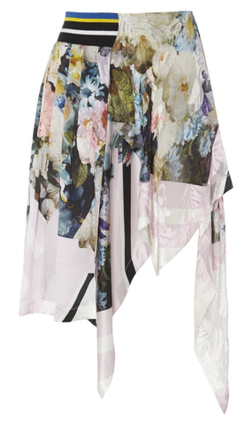 Preen by Thornton Bregazzi Canvas satin devore skirt