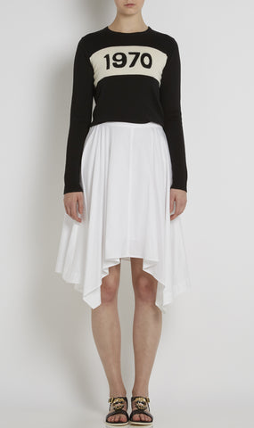 Jackie cotton poplin skirt