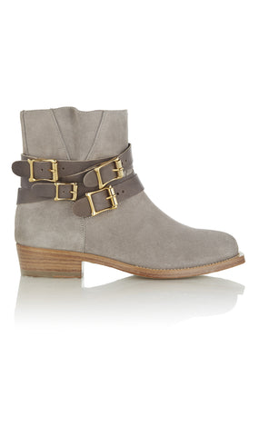Parnassus suede and leather ankle boots