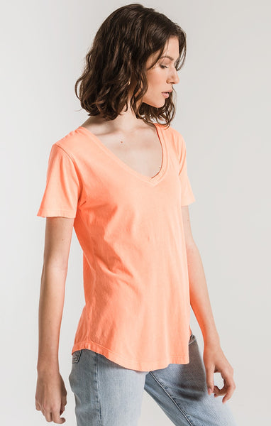 The Neon V-Neck Tee by ZSUPPLY