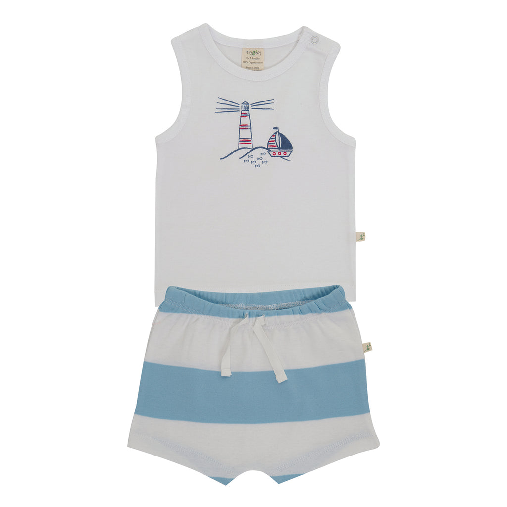 Tiny Twig - Nautical - Singlet Set