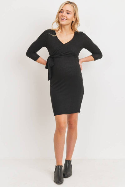 Brushed Hacci Maternity and Nursing Dress