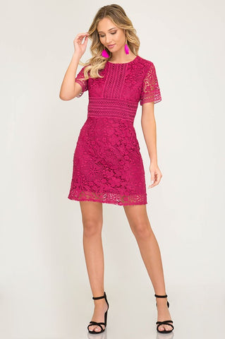 Elle Woods Pink Lace Dress