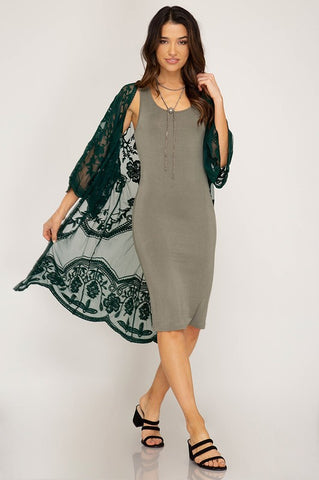 Lace Midi Duster Cardigan (more colors)
