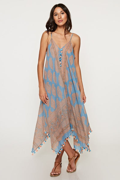 Paisley Tassel Coverup Dress (more colors)