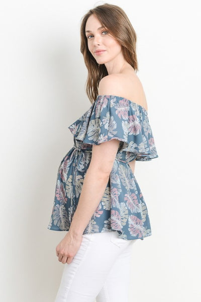 A New Leaf Off-Shoulder Top