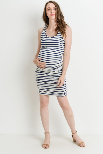 Stripe Ruched Tank Dress (more colors)