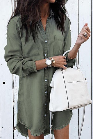 Boyfriend Button Down Shirt Dress (more colors)