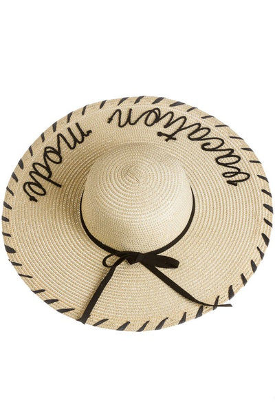 Vacation Mode Floppy Straw Hat