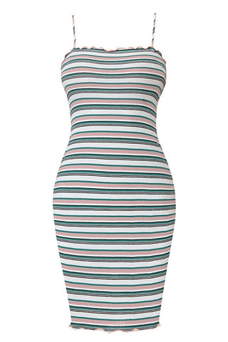 Fun For Now Striped Bodycon Dress