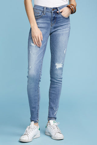 Light Wash Destroyed Denim by Judy Blue Jeans