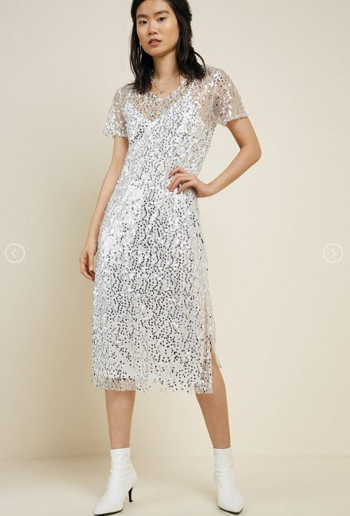 Best Is Yet Sequin Midi Dress