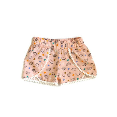Taco 'Bout Cute Pom Trim Shorts