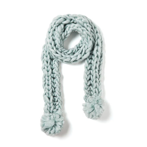 C+C Long Cable Knit PomPom Scarf (more colors)