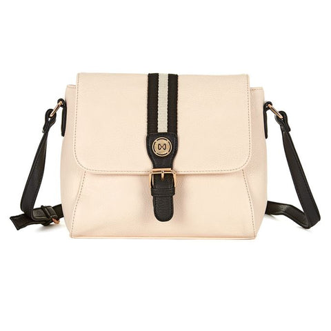 C+C Good Sport Ivory & Black Crossbody Purse
