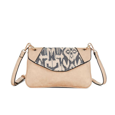 C+C Tiana Ikat Bone/Grey Crossbody Purse