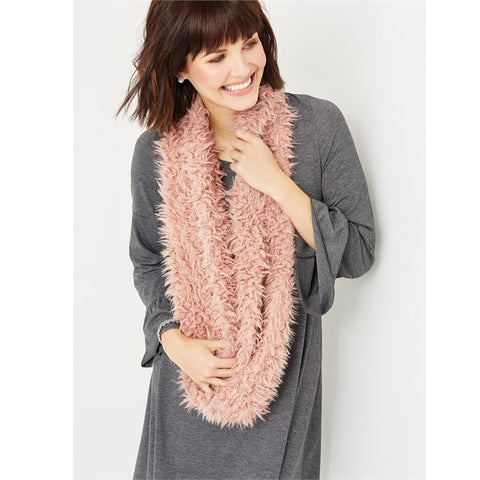 C+C Plush Faux Fur Loop Infinity Scarf (more colors)