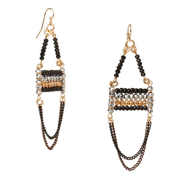 Lupe Beaded Drop Earrings