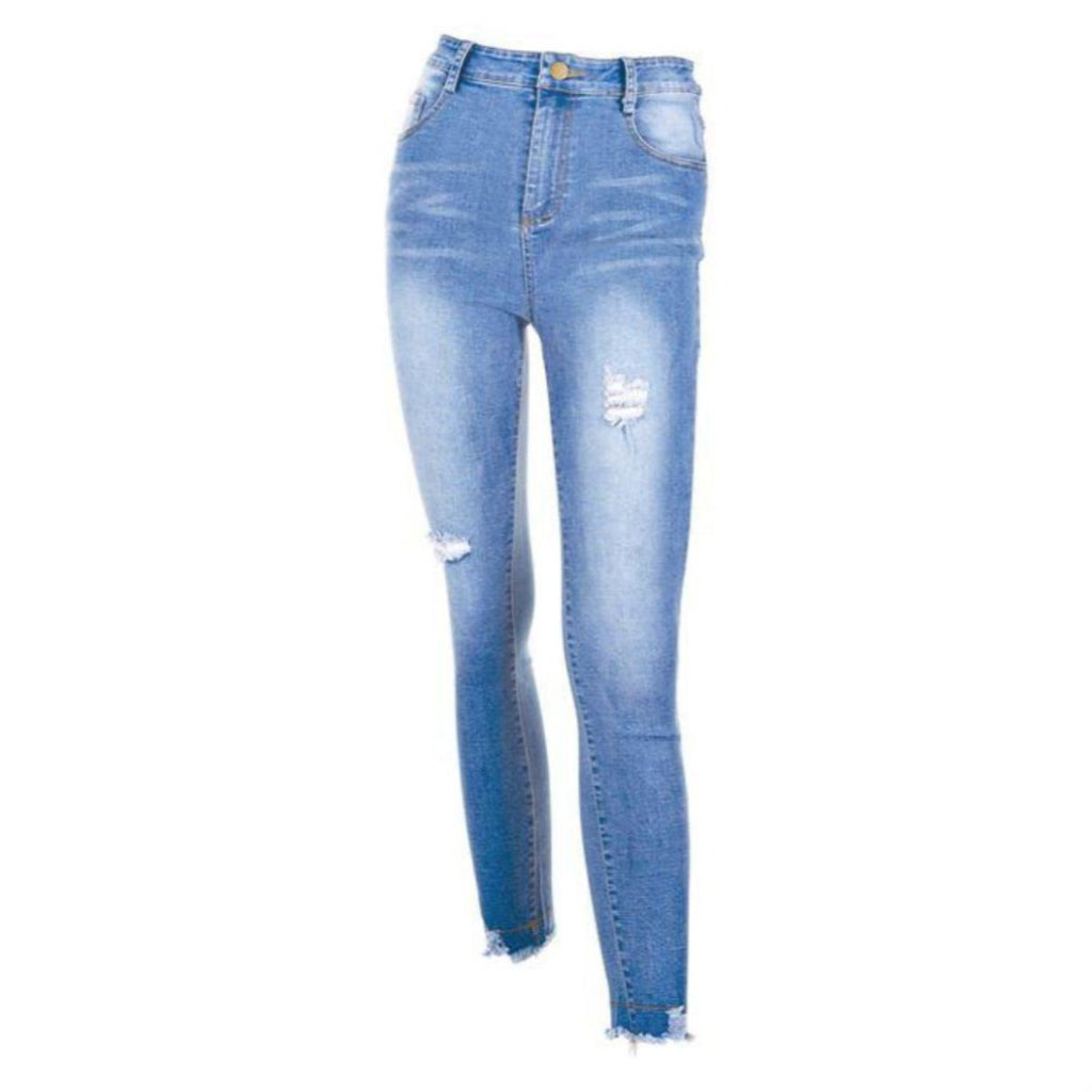 C+C Farrah Distressed Light Wash Skinny Jeans