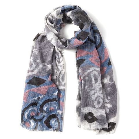 Fiji Print Gauzy Oblong Scarf (more colors)